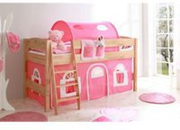 Ticaa Hochbett Eddy - Landhaus pink/weiß