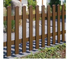KM-Zaun Zaunpfosten braun BxH: 9 x 90 cm 3er-Set
