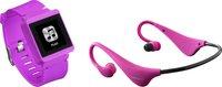 Lenco MP3Sportwatch-100 8GB rosa + Kopfhörer BH-100
