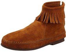 Minnetonka Back Zipper Boot brown suede