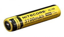 Nitecore NL188 Li-Ionen Akku, 3.7V 3100 mAh geschützt