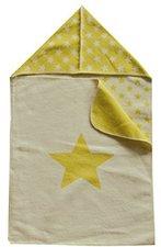 David Fussenegger Einschlagdecke Sterne mit Kapuze 45 x 76 cm gelb/grün