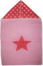 David Fussenegger Einschlagdecke Sterne mit Kapuze 45 x 76 cm pink