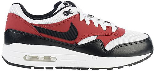 Nike Air Max 1 GS white/gym red/black