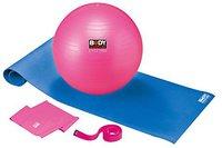 L.A. Sports 5-in-1-Pilates-Set mit Gymball, Matte, Gurt, Pumpe & Band