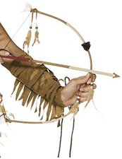 Smiffys Set feathered indian bow and arrow