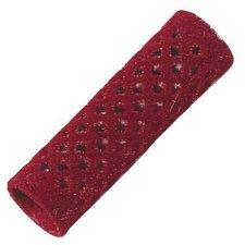Comair Metallwickler Beflockt 18 mm rot 12 Stück