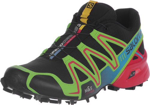 Salomon Speedcross 3 black/granny green/bright red