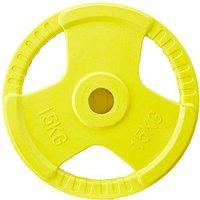 Gorilla Sports Hantelscheiben Gripper Gummi 15 kg, 50/51mm Olympia