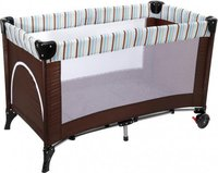 Baby-Plus Lucca Plus Darkbrown/Blue Stripes