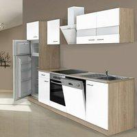 Respekta Küchenzeile 280cm weiß mit Geräten