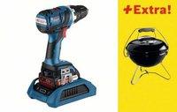 Bosch GSR 18 V-EC Professional 2 x 2,0 Ah + mit Weber Grill Smokey Joe (0 615 990 GY0)