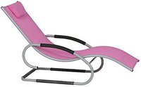 Siena Garden Adria Swingliege (Alu-Textilfaser) silber-pink