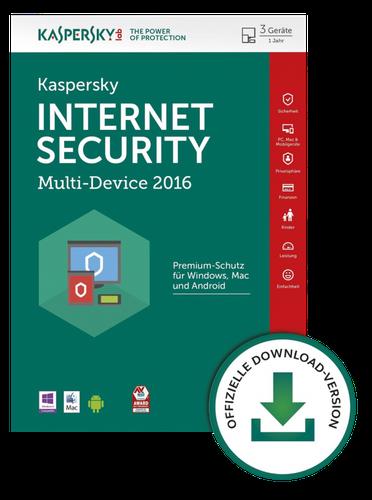 Kaspersky Internet Security 2016 (5 User) (1 Jahr) (DE) (Win) (Box)