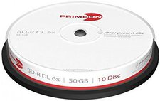 Primeon BD-R Silver-Protect-Disc 50GB 6x 10er Cakebox