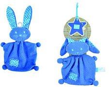 Lief! Schmusetuch Hase dunkelblau 21 cm