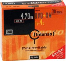 Intenso GmbH DVD+RW 4,7GB 120min 4x 10er Slimcase
