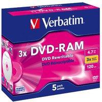 Verbatim DVD-RAM 4,7GB 120min 3x 5er Jewelcase