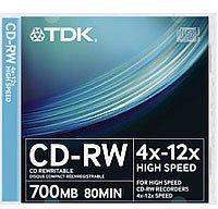 TDK CD-RW 700MB 80min 12x 10er Jewelcase