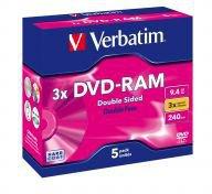 Verbatim DVD-RAM 9,4GB 240min 3x doppelseitig 5er Cartridge Typ 4