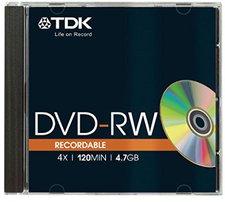 TDK DVD+RW 4,7GB 120min 4x 1er Jewelcase