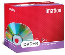 Imation DVD+R DL 8,5GB 240min 8x 5er Jewelcase