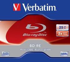Verbatim BD-RE 25GB 135min 2x 1er Jewelcase