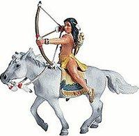 Schleich Sioux Bogenschütze auf Pferd (7030)