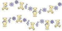 Decofun Wandfigurenset 24-teilig mini My Teddy Bear