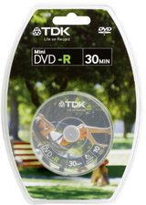 TDK DVD-R Mini 1,4GB 30min 2x 10er Spindel