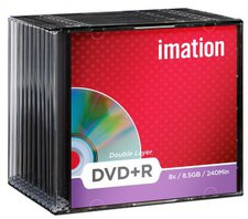 Imation DVD+R DL 8,5GB 240min 8x 10er Slimcase