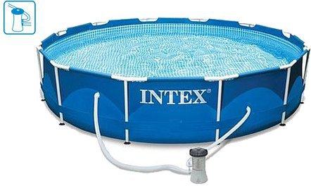 Intex Pools Metal Frame Pool 366 x 76 cm mit Filterpumpe