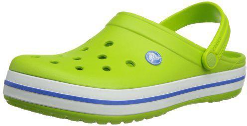 crocs Crocband, Unisex - Erwachsene Clogs, Grün (Volt Green-Varsity Blue), 46/47 EU