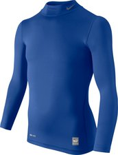Nike Pro Combat Core Tight Mock Youth blue