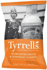 Tyrrell's Chips Worcester Sauce & Sundried Tomato (150 g)