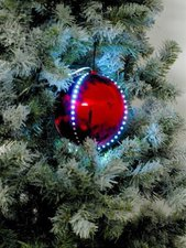 Europalms LED Snowball rot (8 cm)
