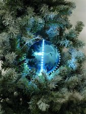 Europalms LED Snowball eisblau (8 cm)