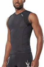 2XU Men's Compression Sleeveless Top black