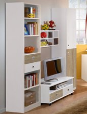 Wimex Wohnbedarf Kinderzimmer-Wohnwand Daylight - sägegrau
