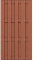 Brügmann TraumGarten Jumbo WPC Halbelement bangkirai/braun 95 x 179 cm