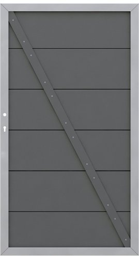 Brügmann TraumGarten System WPC Alu anthrazit Torelement 98 x 180 cm