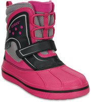 Crocs Kids AllCast Waterproof Duck Boot candy pink/black