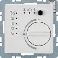 Berker Temperaturregler mit Tasterschnittstelle Q1/Q3 polarweiß samt