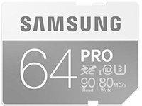 Samsung PRO SDXC 64GB UHS-I U3 (MB-SG64E)