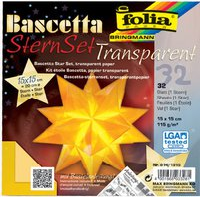 Folia Bascetta SternSet Transparent gelb 15x15 cm