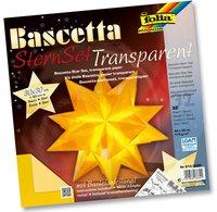 Folia Bascetta SternSet Transparent Gelb 30x30 cm