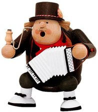 KWO Olbernhau Kantenhocker Räuchermännchen Musiker 16cm