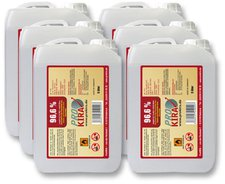 ProKira Brennpaste 96,6% Ethanol 6 x 3 Liter