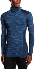 Odlo Blackcomb Evolution Warm Shirt l/s with Facemask Men directoire blue melange / navy new