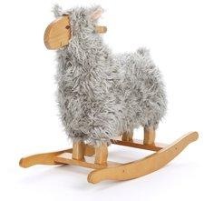 Teddykompaniet Rocking Animal Schaukeltier Lamm Grau